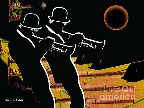 Trumpeteer Duo by Sharon K Shubert