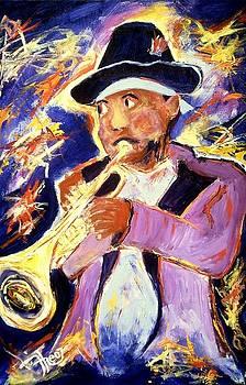 Trumpeter Kermitt Ruffins by Ted Hebbler