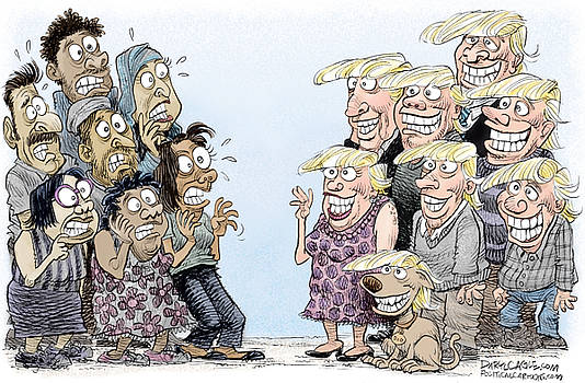 Trumpettes Horror by Daryl Cagle