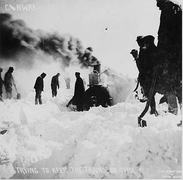 Chicago and North Western Historical Society - Trying to Keep Trains on Time In Winter - 1909