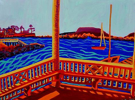 Tucks Point Gazebo View by Debra Bretton Robinson