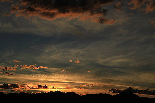 Tucson Mountains Sunset Other World by Judy C Moses