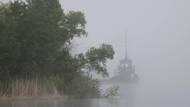 Tug In The Fog by Dennis Pintoski