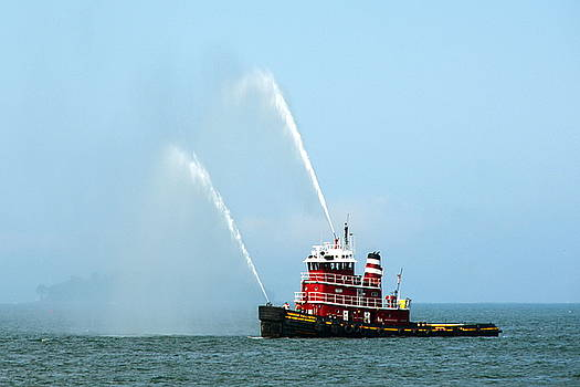 Tugboat's Welcome Salute by Carla Parris