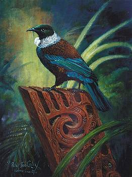 Tui on Taurapa by Peter Jean Caley