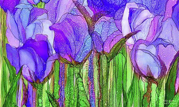 Tulip Bloomies 3 - Purple by Carol Cavalaris