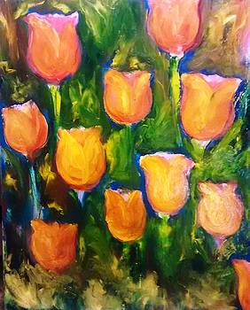 Patricia Taylor - Tulip Garden with Sunlight