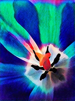 Tulip in Blue and Green by Mary McGrath
