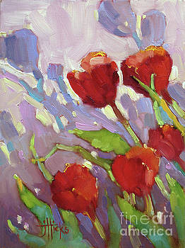 Tulip Shdows by Joyce Hicks
