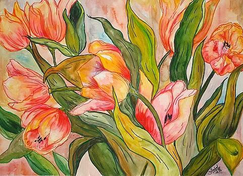 Tulips by Saran A N