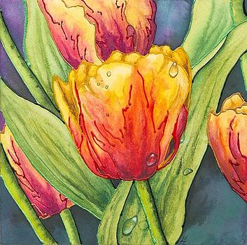 Tulips and Dewdrops by Lynne Henderson