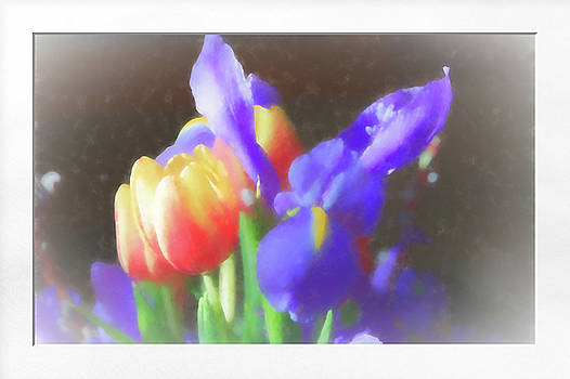 Tulips and Iris by Natalie Rotman Cote