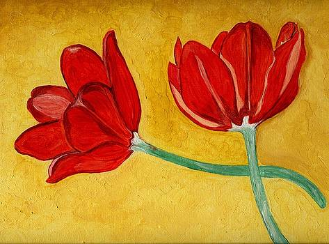 Tulips and Love Happy Together by Anne Gitto