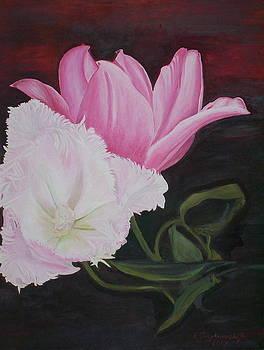 Tulips in love by Ewald Smykomsky