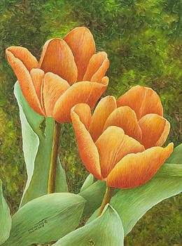 Tulips in Orange by Mary Ann King