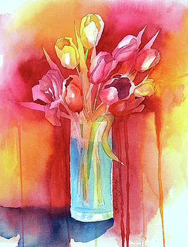 Tulips in Vase II by Brenda Jiral