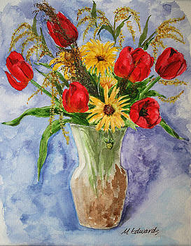 Tulips in vase by Marna Edwards Flavell