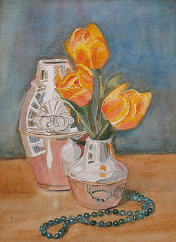 Jenny Armitage - Tulips Jade and Books