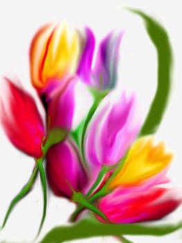Tulips  by Lee Green