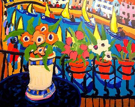 Tulips, Pears $ Yellow Sails by Brian Simons