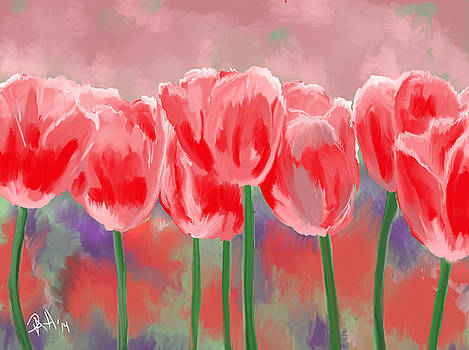 Tulips by Peggy Hickey