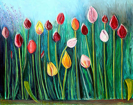 Tulips by Pilar  Martinez-Byrne