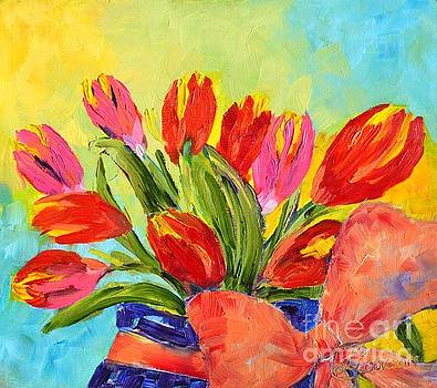 Tulips Tied Up by Lynda Cookson