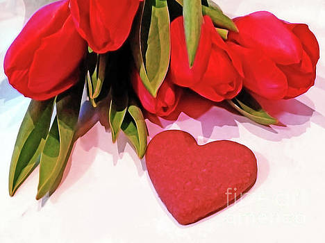 Tulips With A Heart by Jasna Dragun
