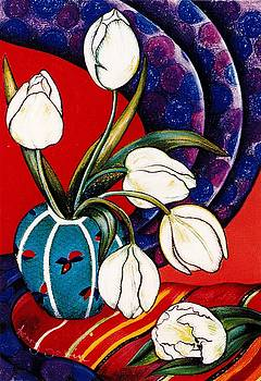 Richard Lee - Tulips with Silk Scarf