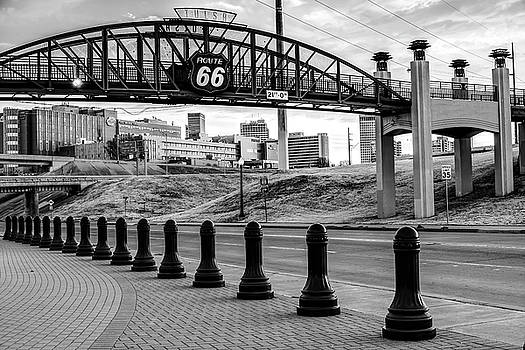 Tulsa Oklahoma Route 66 - Cyrus Avery Plaza - Black and White by Gregory Ballos