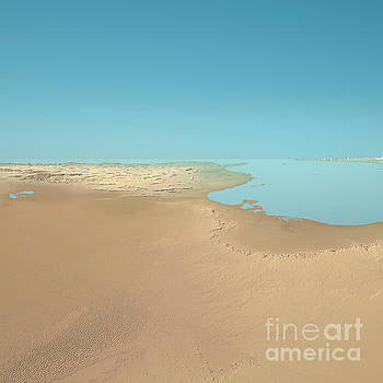 Tunisia 3D Render Topographic Landscape View From South by Frank Ramspott