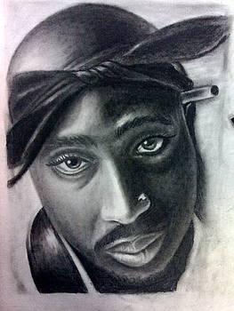 Tupac Shakur by Daniel Lezama
