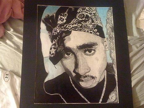 Tupac Shakur by Demetrius Washington