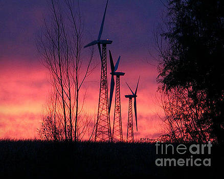 Turbines, Trees And Twilight by Kathy M Krause