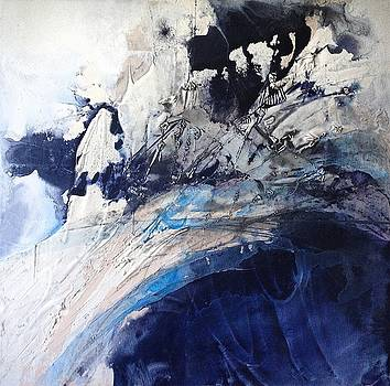 1st Place - SeaScapes 2015 Art Exhibition - Turbulent Flow by Evalynn J Alu