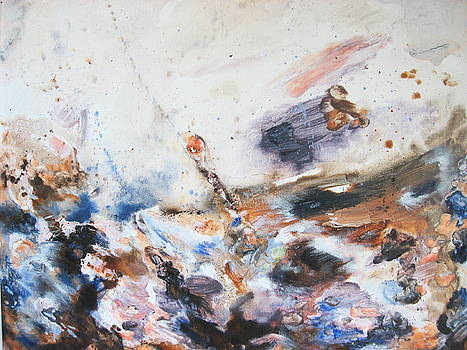Turbulent sea by Moray Watson