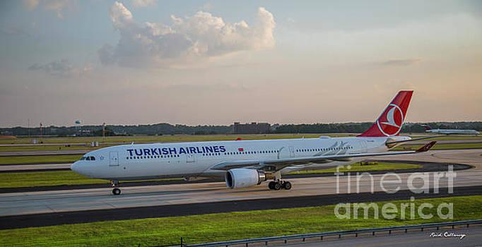 Reid Callaway - Turkish Airlines Jet TC LNG Atlanta International Airport Art