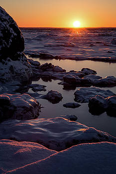 Turnagain Winter Sunset by Tim Newton