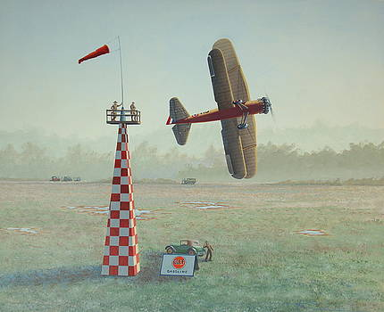 Turning the pylon by  Keith Kochenour