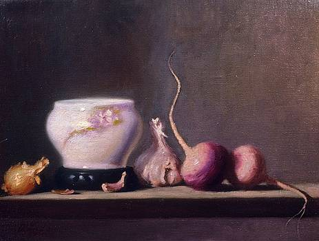 Turnips Garlic and Onions by David Olander