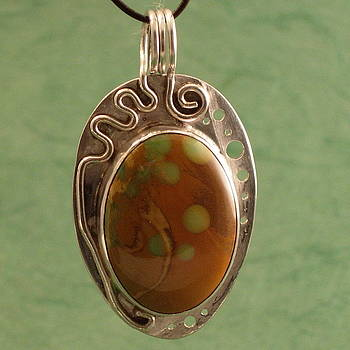 Turquoise   Yes Really    Pendant by Lynette Fast
