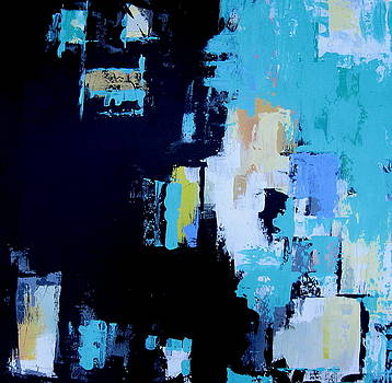 Turquoise Abstract 1 by Brooke Baxter Howie