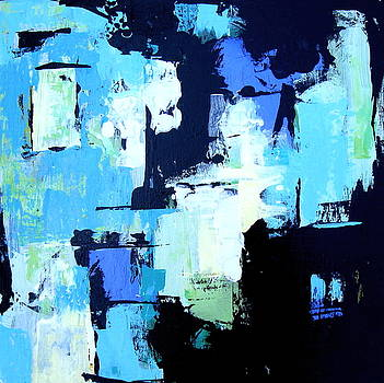 Turquoise Abstract #2 by Brooke Baxter Howie