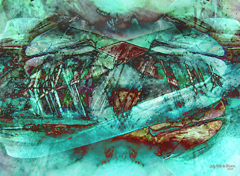 Turquoise abstract by Elisabete Pontes de Oliveira