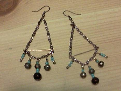 Turquoise and Copper Earrings by Kendell Tubbs