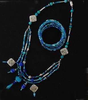 Joan  Jones - turquoise and seed bead set