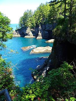 Turquoise Bay at Cape Flattery, Washington by David Frankel