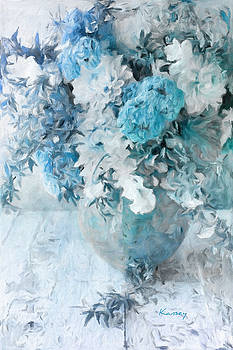 Turquoise Bouquet by Johanne Dauphinais