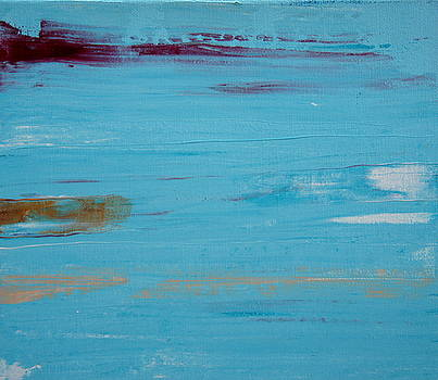 Turquoise Modern Art by Shiela Gosselin