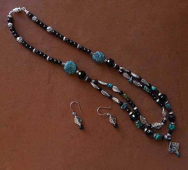 Joan  Jones - turquoise necklace and earrings